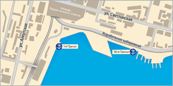 Схема проезда в Славянке